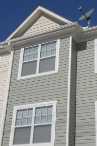Detail of newly build townhome